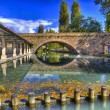 Washhouse river topino in Bevagna ancient medieval town of Umbri — Stock Photo #59228859