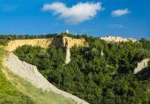 Volterra village : Le balze (the crags) — Stock Photo