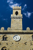 Palace of Priors   Volterra  italian medieval village — Stock Photo