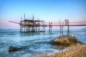 Trabucco (house for fishing)  Fossacesia Marina Chieti Italy — Stock Photo