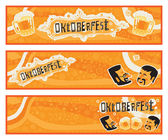 Oktoberfest. Set of three vector banners for Oktoberfest — Stock Vector