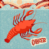 Astrological zodiac sign Cancer. Part of a set of horoscope signs. Vector illustration. — Stock Vector