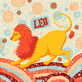Astrological zodiac sign Leo or Lion. Part of a set of horoscope signs. Vector illustration. — Stock Vector