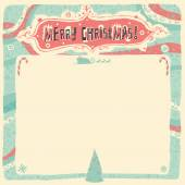 Merry Christmas Greeting card, invitation, poster or background. Vector illustration. — Vector de stock