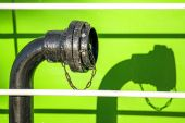Black pipe on a ship — Stock Photo