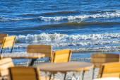 Beer garden at the Baltic Sea in Poland — Foto de Stock