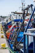 Fishing cutter in a port — Stock Photo