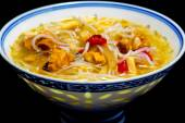 Asian chicken noodle soup — Stock Photo