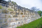 Old, medieval abbey wall — Stock Photo