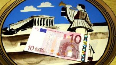 Греческий, драхма или евро — Стоковое видео