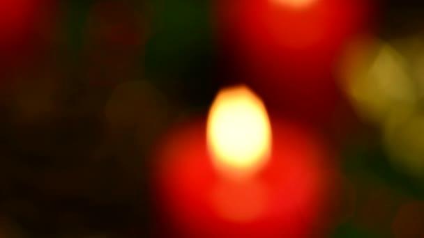 Advent wreath on turn table — Vidéo