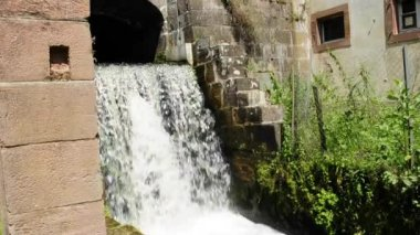 Water power use in the former ironworks — Stock Video
