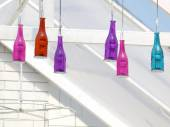 Bottles with bulbs — Stock Photo