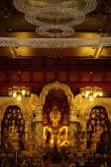 Interior view of the Golden Buddha. At Wat Pa Dara Pirom Chiang Mai Thailand — Stock Photo