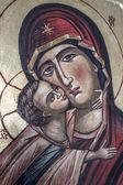 Icono ortodoxo tradicional de madre maría — Foto de Stock