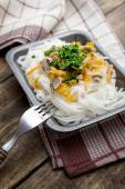 Chinese mix vegetables and rice noodles — Stock Photo