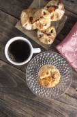 Delicious homemade  strudel with coffee — Стоковое фото