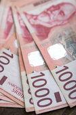 Serbian thousand dinar-bills — Stock Photo