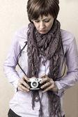 Donne con fotocamera — Foto Stock