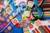 School and office supplies, back to school — Stock Photo