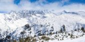 Winter wonderland in mountain — Stock Photo