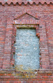 Window in an old brick church — Fotografia Stock