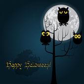 Happy Halloween card vector — Stock Vector