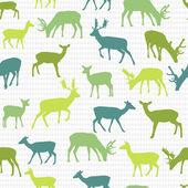 Retro vector pattern with deers — Stock Vector
