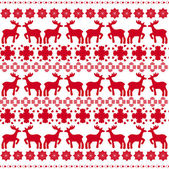 Christmas traditional pattern with deers vector — Stock Vector