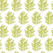 Seamless pattern with fern leaves vector — Stock Vector
