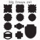 Big set of monochrome frames vector — 图库矢量图片