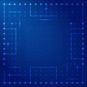 Computer processor vector frame — Stock Vector