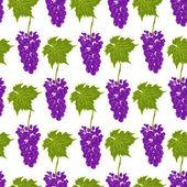 Seamless pattern grapes vector — Stok Vektör