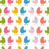 Pattern of cute birds vector — Stock Vector