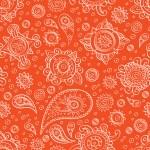 Orange oriental seamless pattern — Stock Vector #53255073