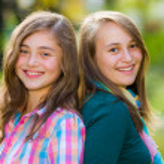 Smiling happy teenager girls having fun — Stock Photo #55130147
