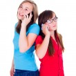 Girls talking on their mobile phones — Stock Photo #55948169