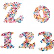 Numbers made of colorful sprinkles — Stock Photo #62021595