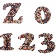 Numbers made of mixed peppercorns — Stock Photo #62021633