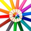 Colorful pencils in radial arrangement — Stock Photo #62022073
