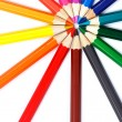 Colorful pencils in radial arrangement — Stock Photo #62022077