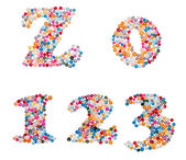 Numbers made of colorful sprinkles — Stock Photo