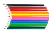 Color palette made in colorful pencils — Stock Photo