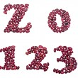 Numbers made of red kidney beans — Stock Photo #62679549
