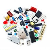 Bunch of electronic components — Stock Photo