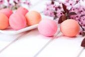 Easter eggs on white board — Stock Photo