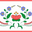 Hungarian embroidery floral decoration — Stock Vector #68122519