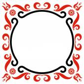 Frame with Hungarian motives decoration — Stock Vector