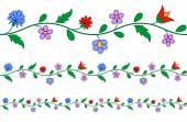 Horizontally seamless Hungarian embroidery pattern — Stock Vector