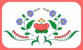 Hungarian embroidery floral decoration — Stock Vector